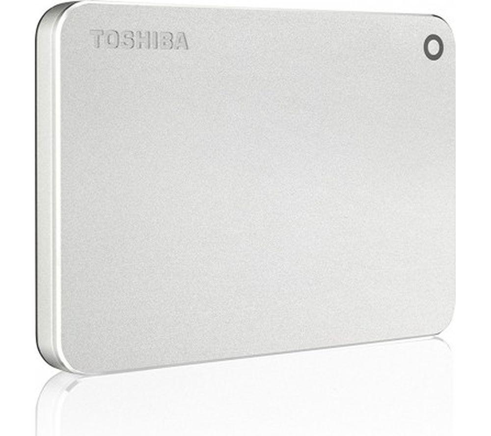TOSHIBA Canvio Premium Mac Portable Hard Drive - 1 TB, Metallic Silver