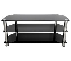 SDC1140 TV Stand - Black & Chrome