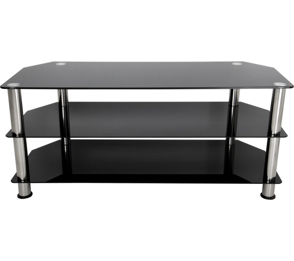 tv stand black buy avf sdc1140 tv stand black amp chrome free delivery 10885