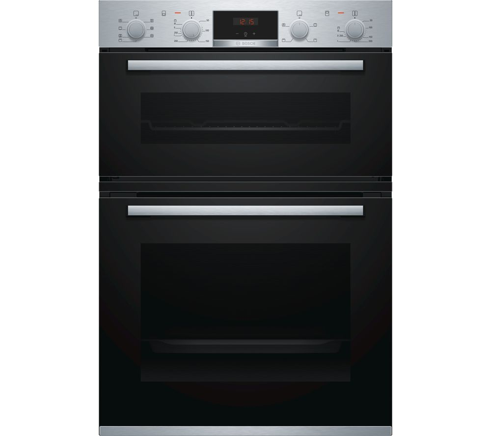 buy bosch serie 4 mbs533bs0b electric double oven stainless steel free delivery currys. Black Bedroom Furniture Sets. Home Design Ideas