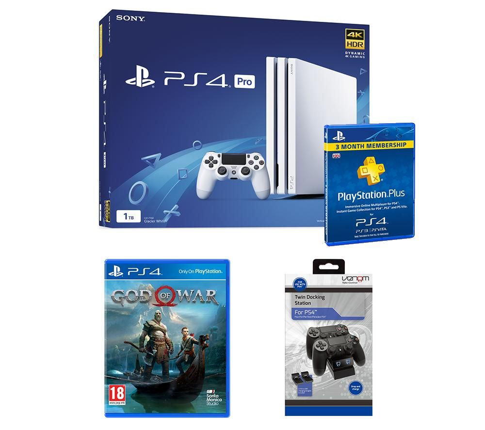 PlayStation 4 Pro, God Of War & Accessories Bundle, Red