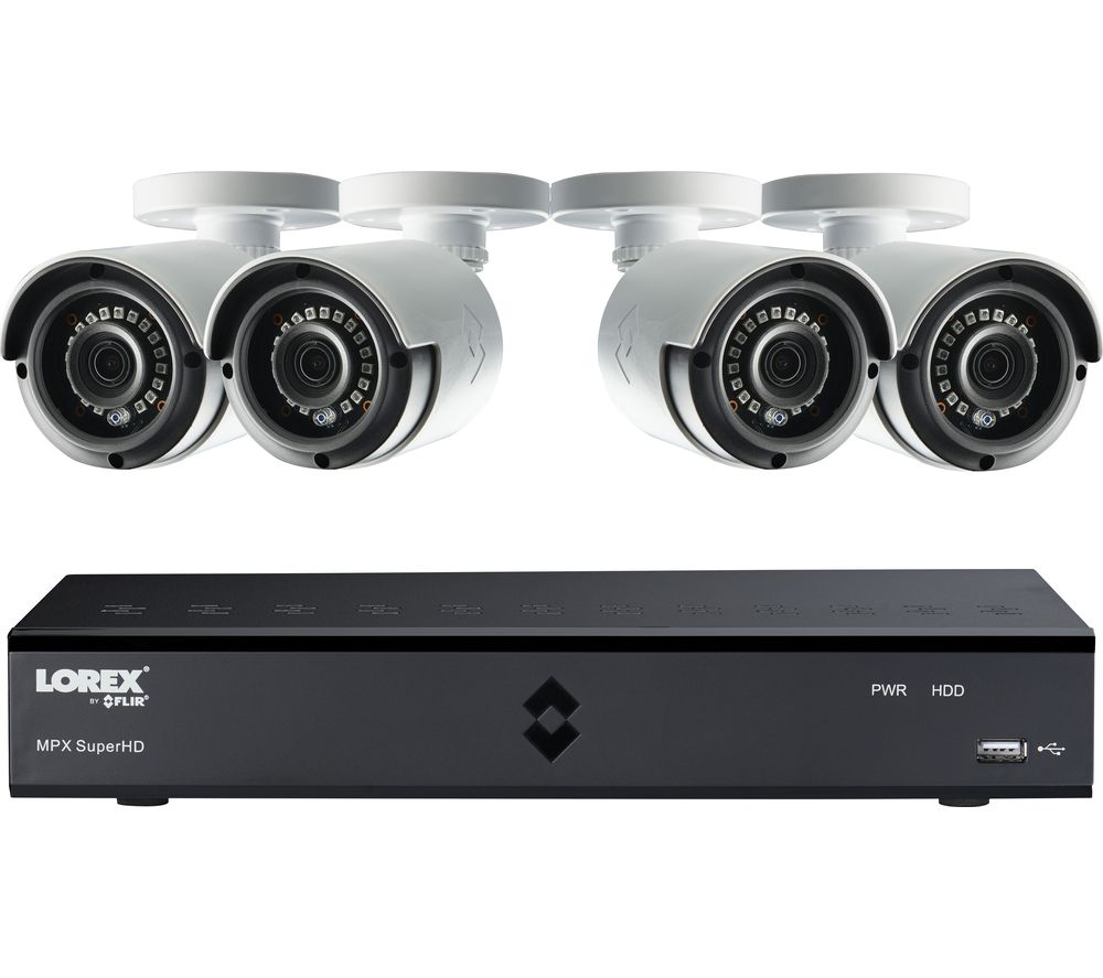 LOREX LHA41082TC4P 8-Channel Full HD 1080p Home Security System - 2 TB, 4 Cameras