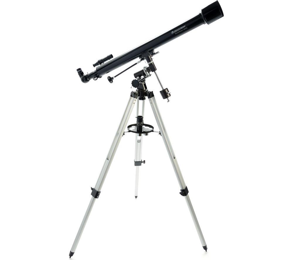 CELESTRON Powerseeker 60EQ Refractor Telescope - Black