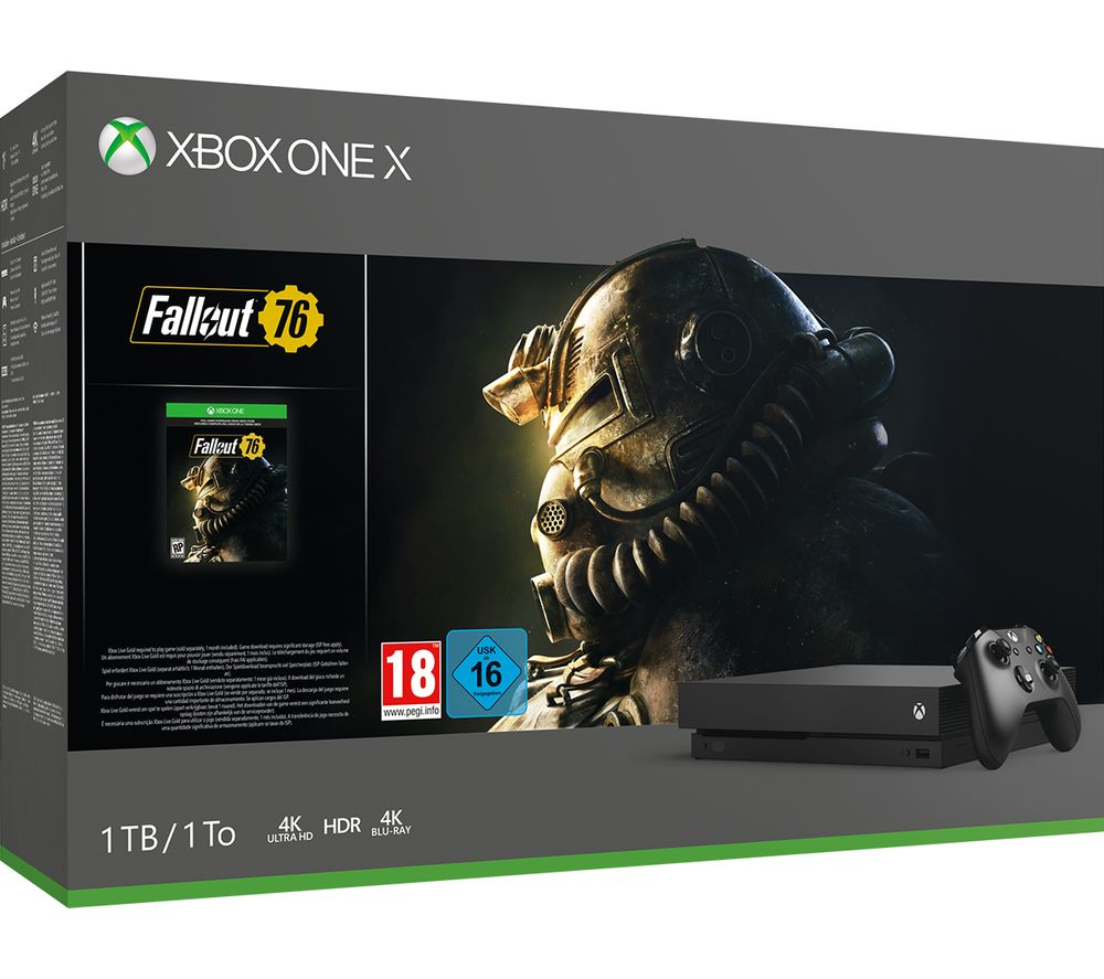 MICROSOFT Xbox One X with Fallout 76