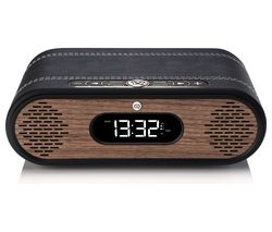 Rosie-Lee DAB+/FM Bluetooth Clock Radio - Black & Walnut
