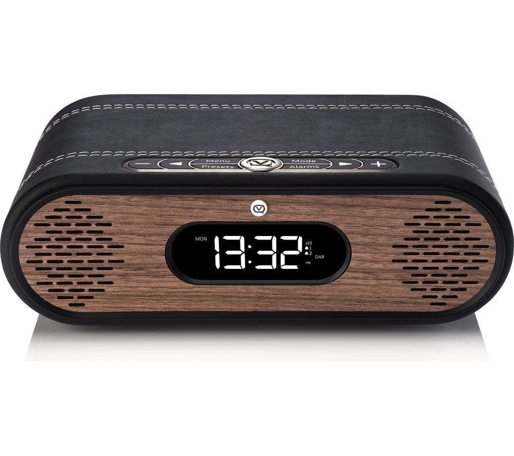 Image of VQ Rosie-Lee DAB+/FM Bluetooth Clock Radio - Black & Walnut, Black