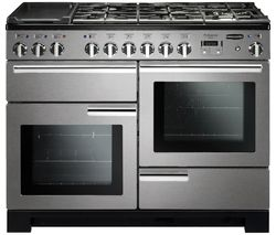 RANGEMASTER Professional Deluxe PDL110DFFSS/C 110 cm Dual Fuel Range Cooker - Stainless Steel & Chrome