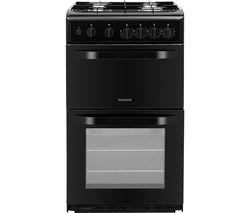 HOTPOINT HD5G00KCB 50 cm Gas Cooker - Black