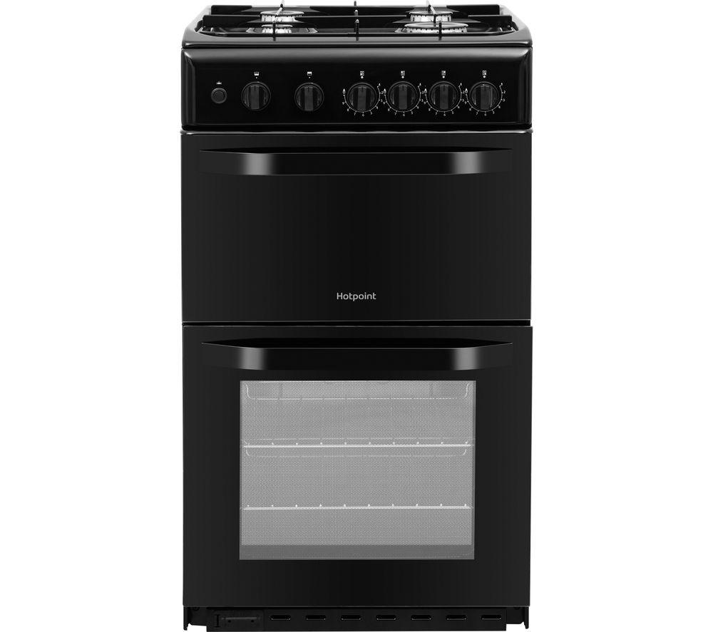 HOTPOINT HD5G00KCB 50 cm Gas Cooker - Black