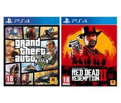 PS4 Red Dead Redemption 2 & Grand Theft Auto V Bundle