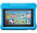 £99.99, AMAZON Fire 7inch Kids Edition Tablet (2019) - 16 GB, Blue, Fire OS 5, 16GB storage: Perfect for apps & photos, Battery life: Up to 7 hours, Add more storage with a microSD card, Dolby Atmos,