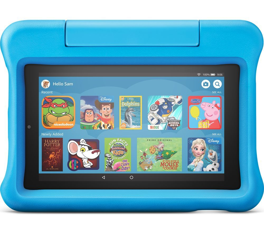 "Image of AMAZON Fire 7"" Kids Edition Tablet (2019) - 16 GB, Blue, Blue"