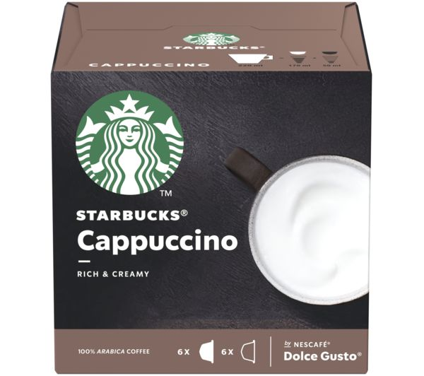 Image of STARBUCKS Dolce Gusto Cappuccino Coffee Pods - Pack of 12