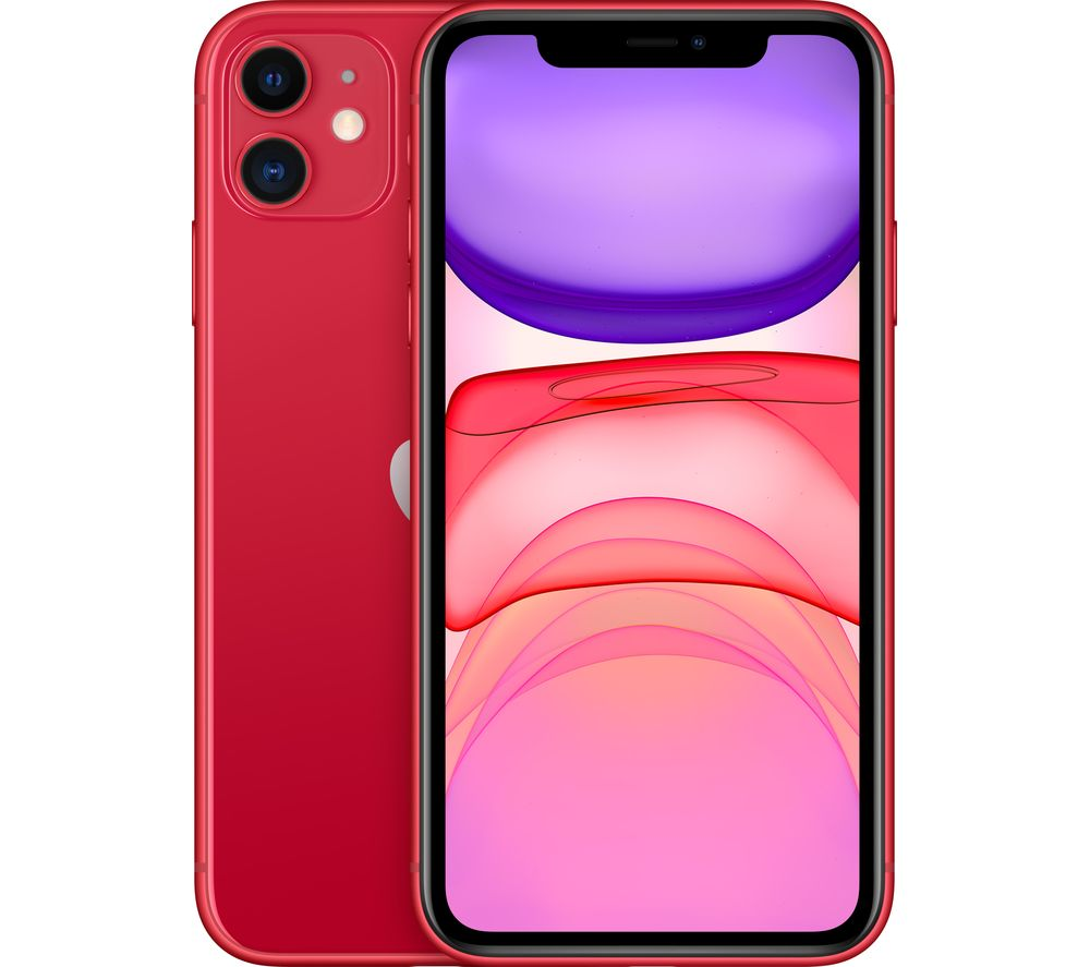 Image of Apple iPhone 11 - 128 GB, Red, Red