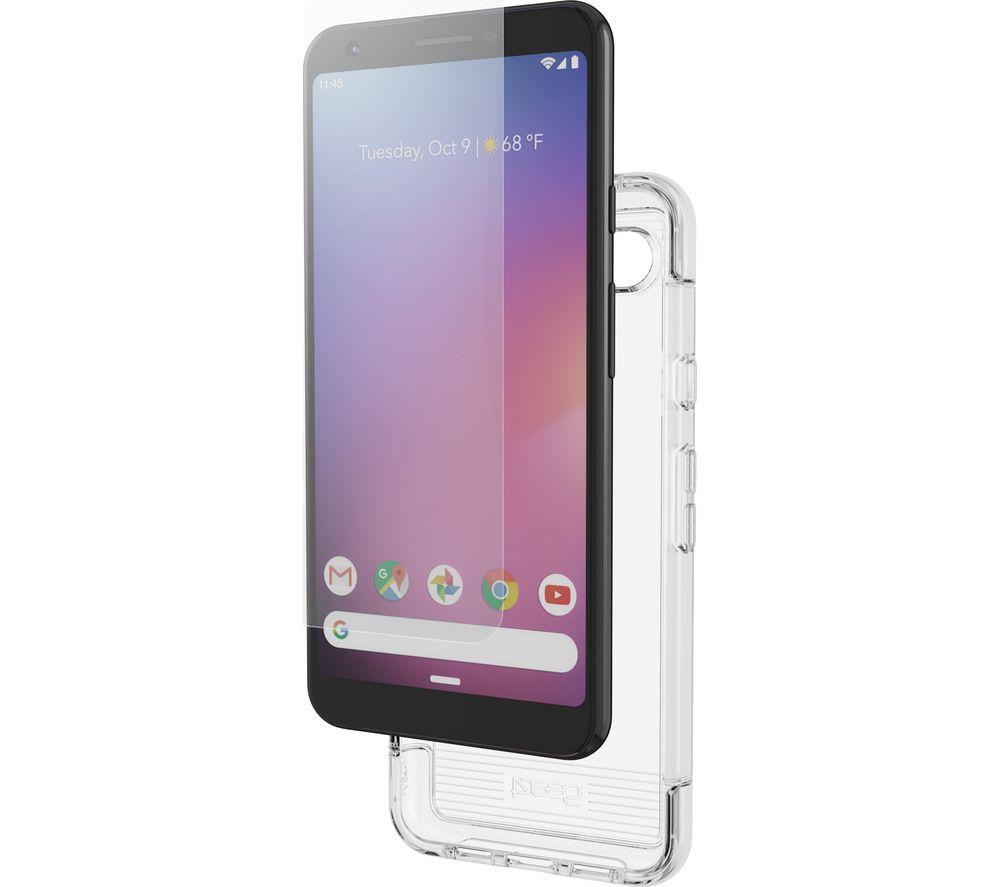 GEAR4 Wembley Google Pixel 3A Case & InvisibleShield Glass+ Screen Protector Bundle