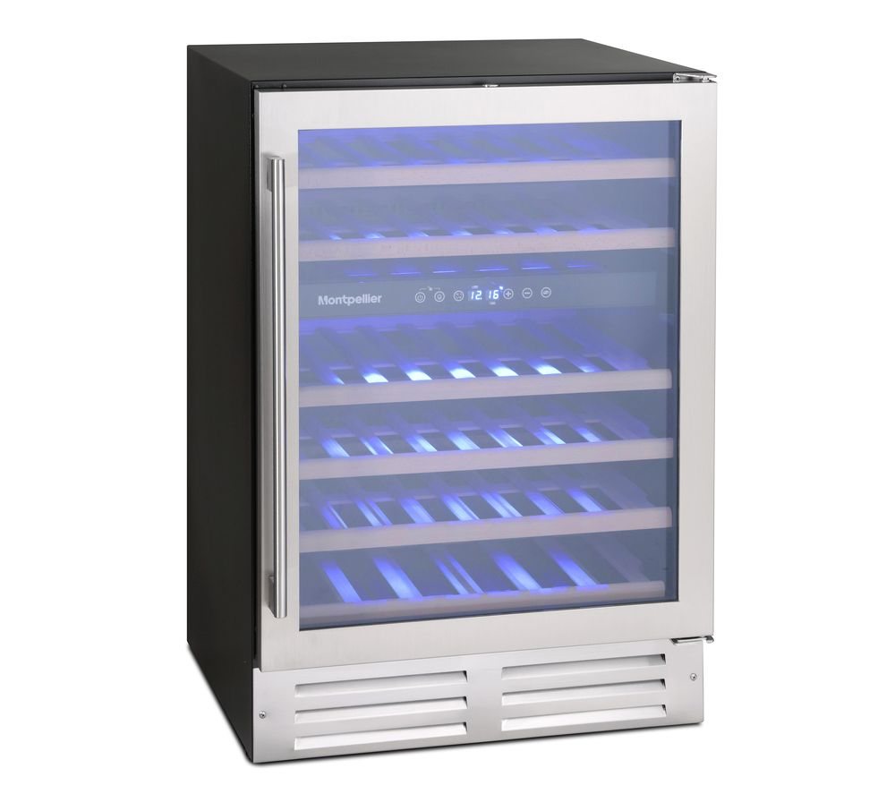 MONTPELLIER WS46SDX Wine Cooler - Stainless Steel, Stainless Steel