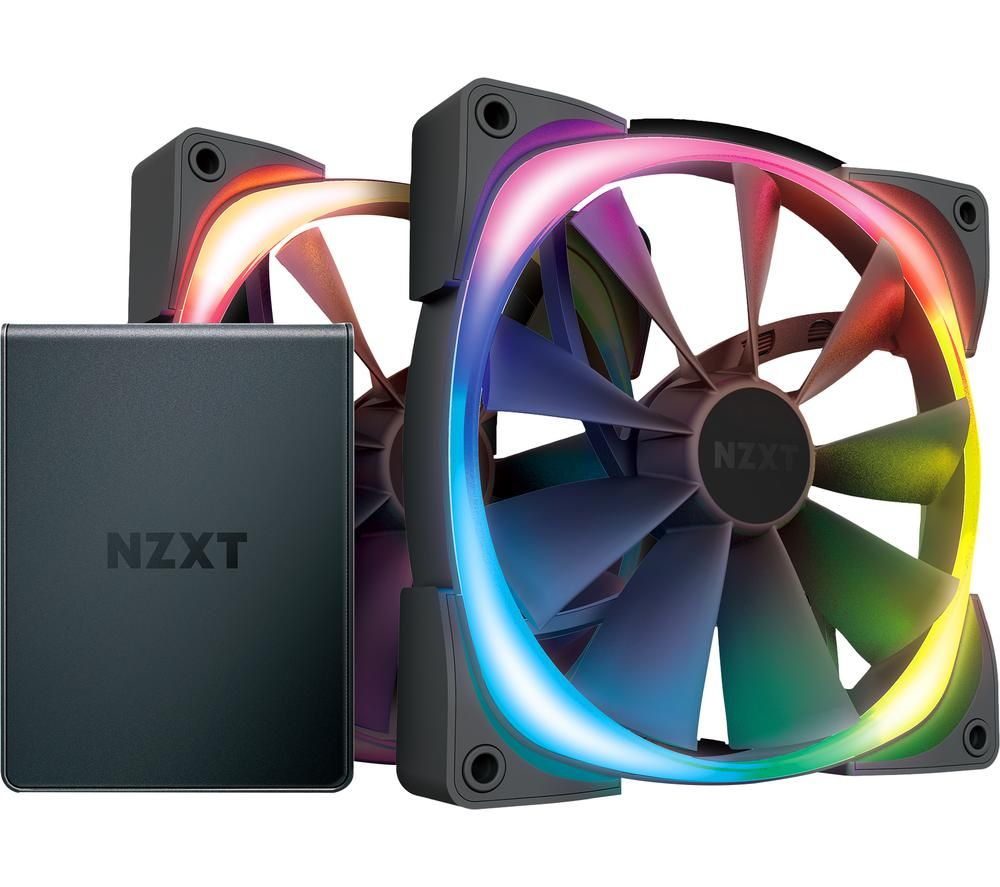 Image of Aer RGB 2 Dual Fan Pack with HUE 2 Controller - 140 mm