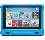 £199, AMAZON Fire HD 10inch Kids Edition Tablet (2019) - 32 GB, Blue, Fire OS 5, Full HD screen, 32GB storage: Perfect for apps / photos / videos, Battery life: Up to 10 hours, Add more storage with a microSD card,
