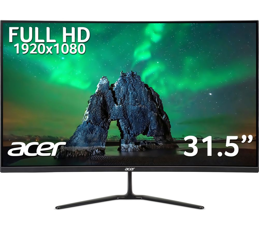 "Image of ACER ED320QRPbiipx Full HD 31.5"" Curved LCD Monitor - Black, Black"