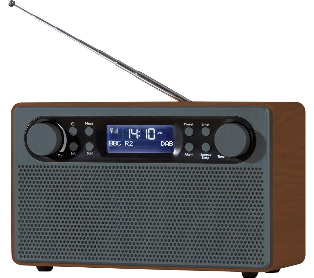 DAEWOO AVS1324 Portable DAB? Retro Radio - Grey, Grey
