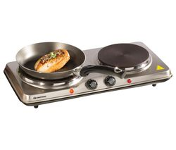 SDA1732 Double Electric Hot Plate - Silver
