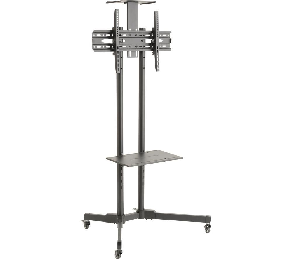 TTAP 665 mm TV Stand with Bracket - Grey Steel