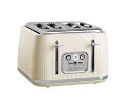 MORPHY RICHARDS Verve 243011 4-Slice Toaster - Cream