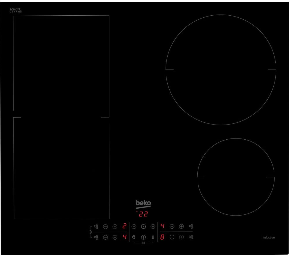 Image of BEKO HII64201MT Electric Induction Hob - Black, Black