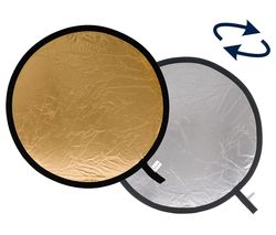 LR1234 30 cm Collapsible Reflector - Silver & Gold