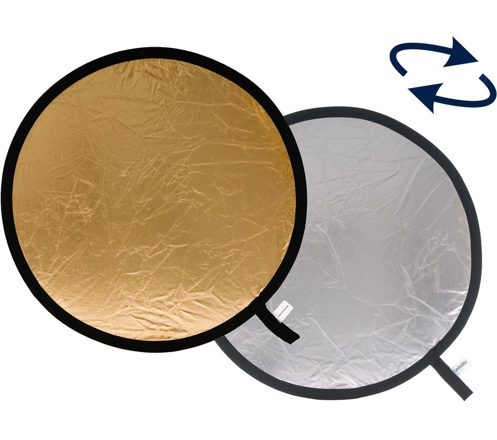LASTOLITE LR1234 30 cm Collapsible Reflector - Silver & Gold, Silver