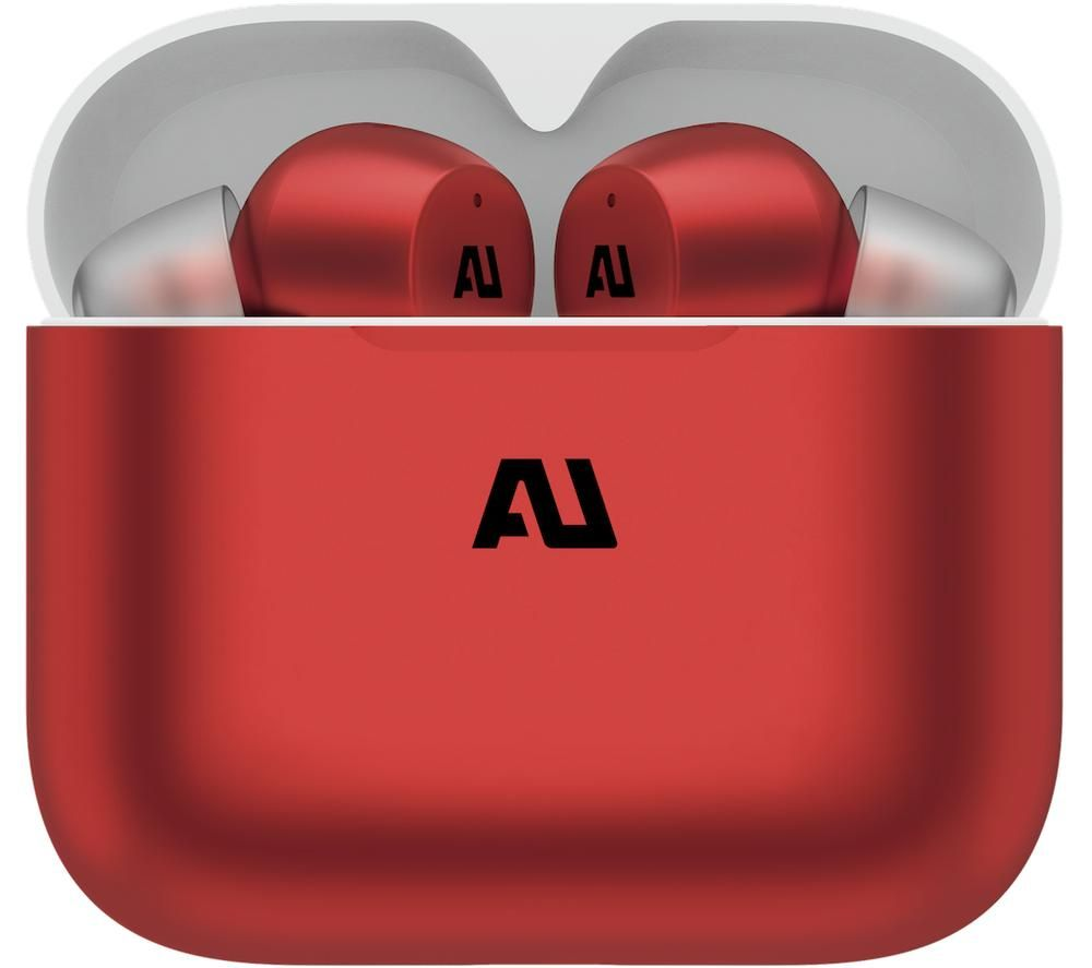 AUSOUNDS AU-Stream Wireless Bluetooth Earphones - Red, Red