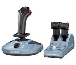 TCA Airbus Edition Throttle Quadrant Flight Controller & Joystick - Black & Blue
