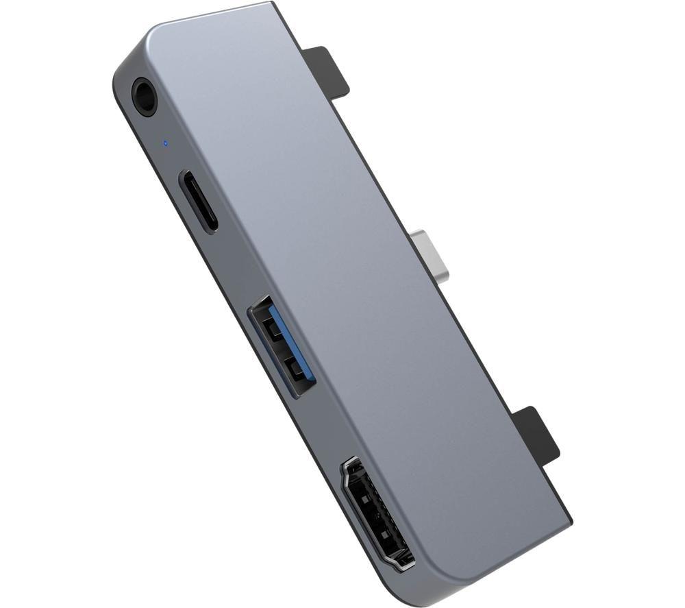 HYPERDRIVE HD319E-Grey 4-in-1 USB Type-C Hub - Space Grey
