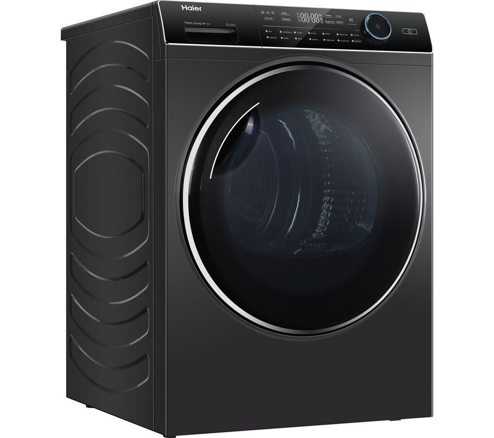 HAIER I-Pro Series 7 HD90-A2979S 9 kg Heat Pump Tumble Dryer - Graphite, Graphite