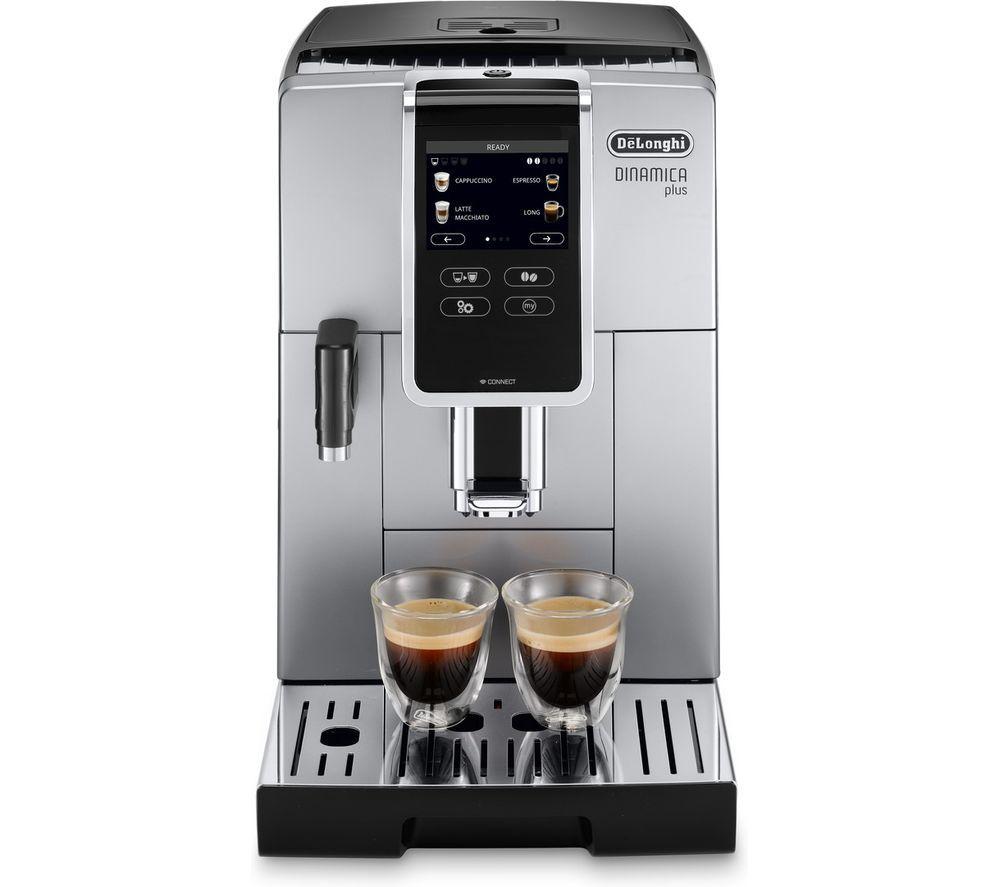 DELONGHI Dinamica Plus ECAM370.85.SB Smart Bean to Cup Coffee Machine - Silver, Silver