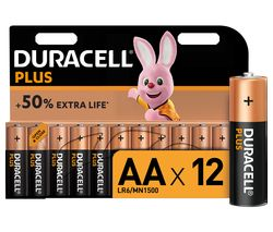 Plus Power AA Alkaline Batteries - Pack of 12