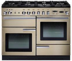 RANGEMASTER Professional+ 110 Dual Fuel Range Cooker - Cream & Chrome