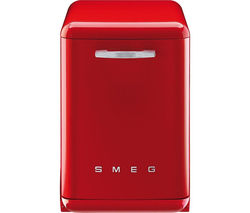 SMEG DF6FABR2 Full-size Dishwasher - Red Best Price, Cheapest Prices