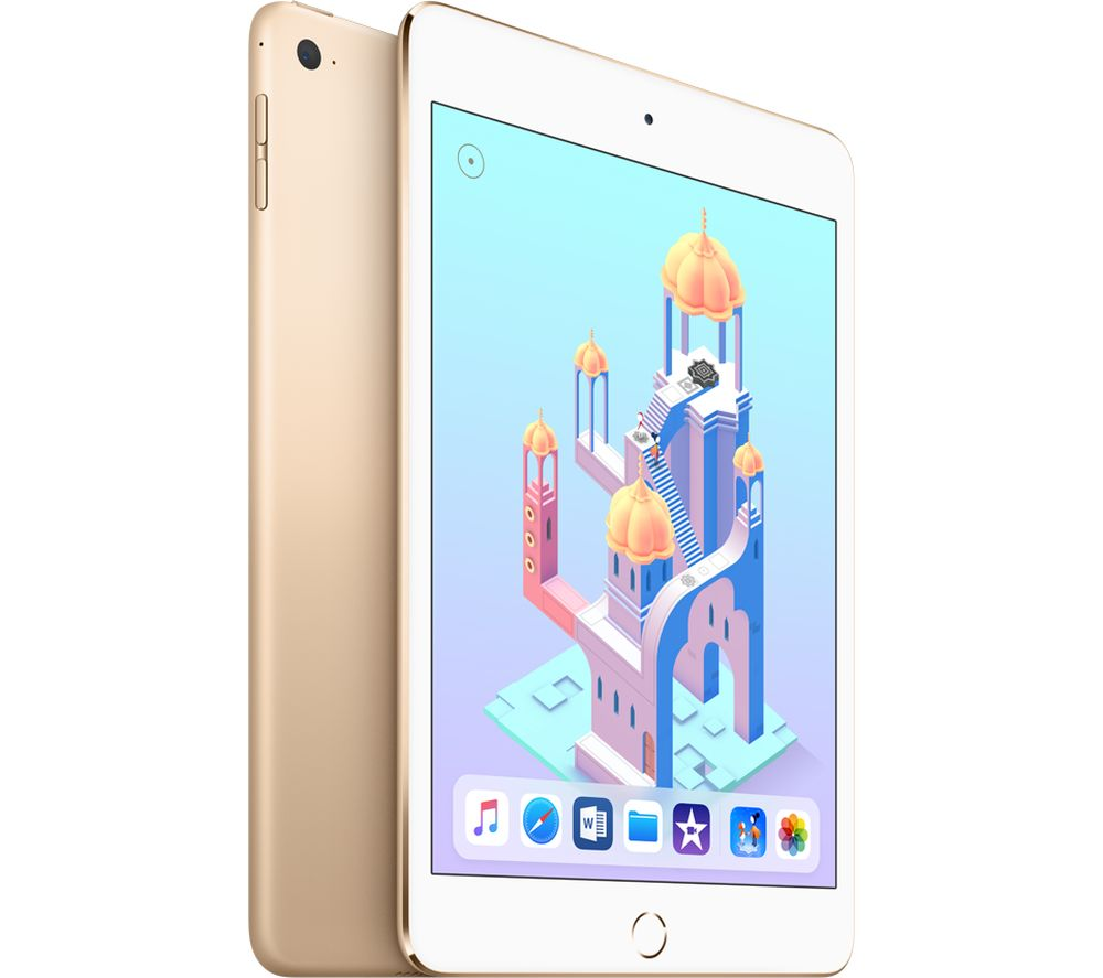 APPLE iPad mini 4 - 128 GB, Gold + MD836B/B USB Power Adapter