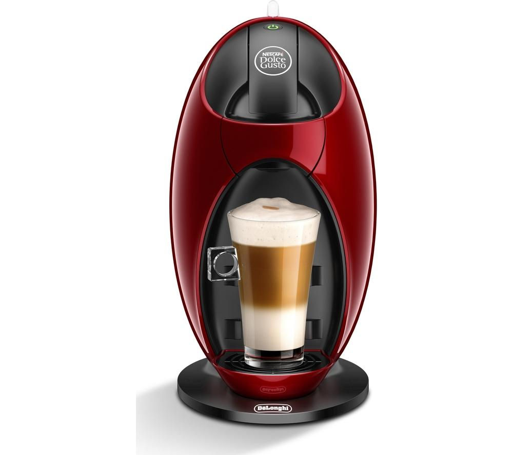 by De'Longhi Jovia EDG250.R Hot Drinks Machine - Red + Dolce Gusto Americano - Pack of 16