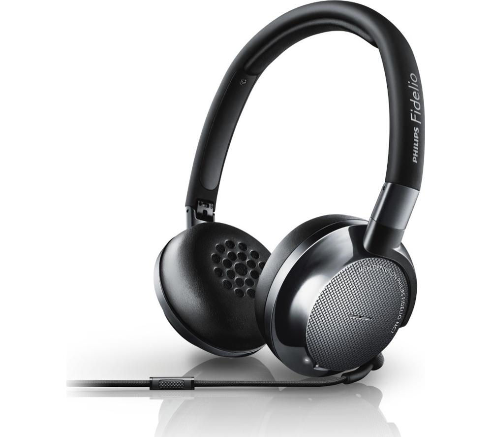 PHILIPS Fidelo NC1/00 Noise-Cancelling Headphones - Black