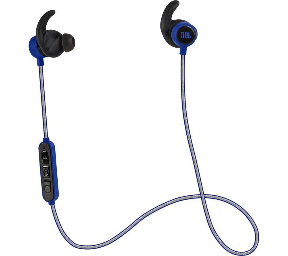 JBL Reflect Mini BT Wireless Bluetooth Headphones - Blue