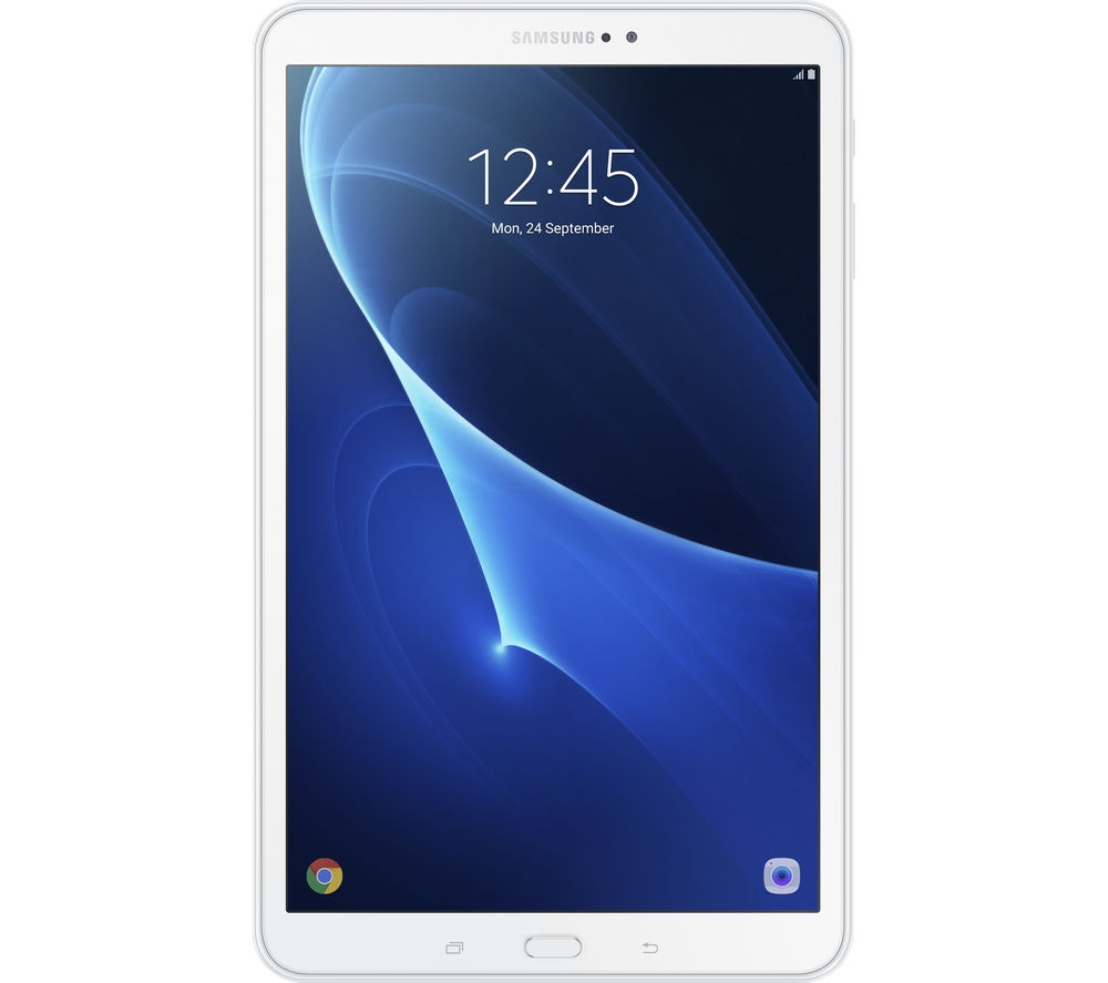 "SAMSUNG Galaxy Tab A 10.1"" Tablet - 16 GB, White + LiveSafe Premium - 1 user / unlimited devices for 1 year + Cloud Storage for Tablets & Mobiles - 200 GB, 1 year"