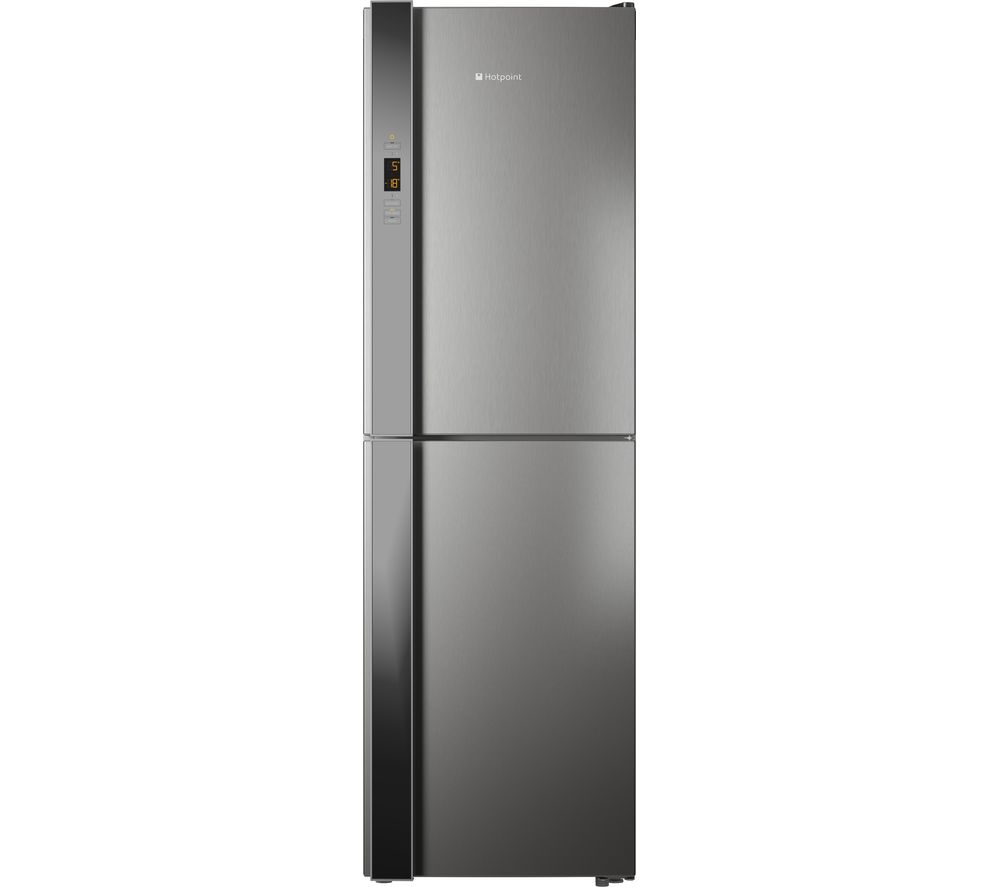 HOTPOINT XUL85 T3Z XOV Day1 Stainless Steel Fridge Freezer - Silver