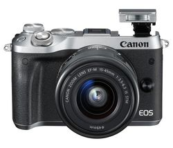 CANON EOS M6 Mirrorless Camera with EF-M 15-45 mm f/3.5-6.3 IS STM Lens - Silver