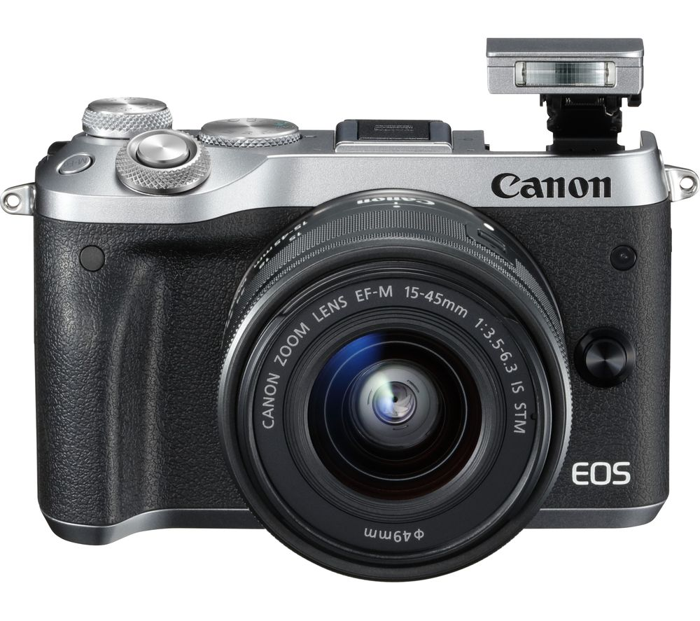 Compare prices for Canon EOS M6 Mirrorless Camera with 15-45 mm f/3.5-6.3 Wide-angle Zoom Lens