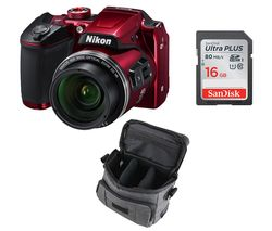 NIKON COOLPIX B500 Bridge Camera - Red