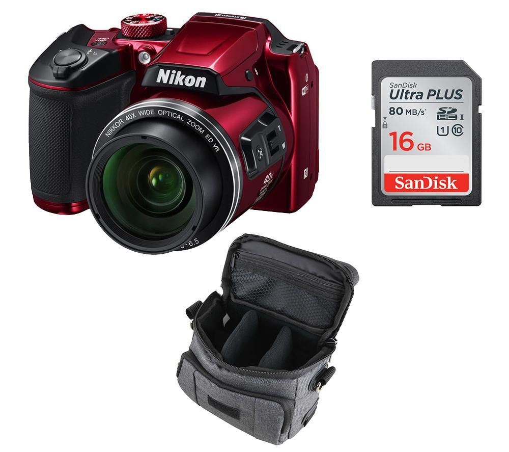 nikon coolpix b500 red buy nikon coolpix b500 bridge amp accessories bundle 280