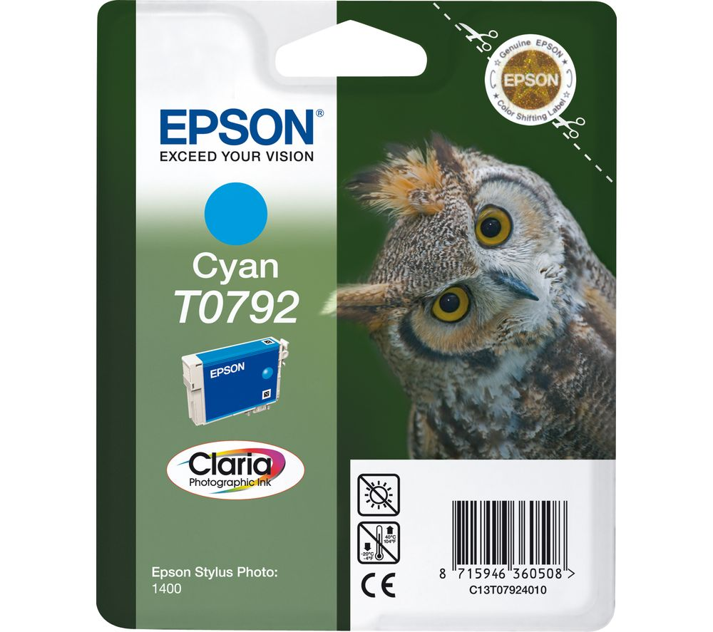 EPSON T0792 Owl Cyan Ink Cartridge