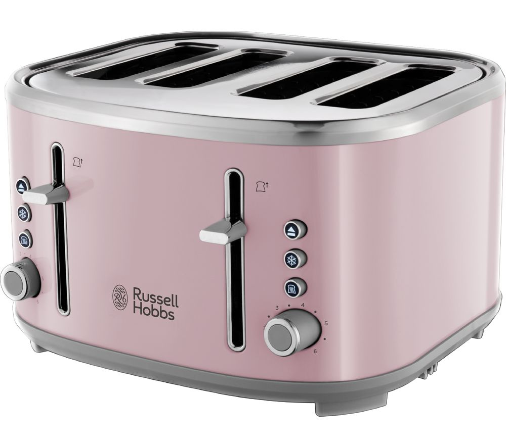 buy russell hobbs bubble 24412 4 slice toaster pink free delivery currys. Black Bedroom Furniture Sets. Home Design Ideas
